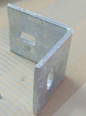 Galvanised L bend