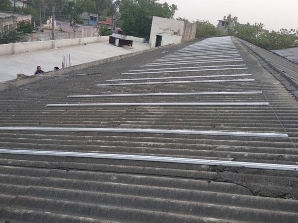 solar panel mounting box pipe