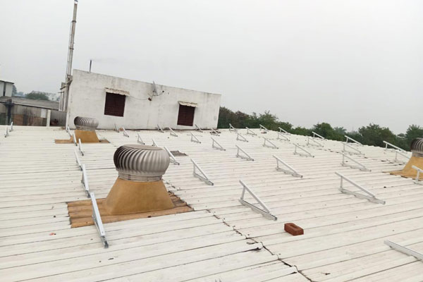 solar tin shed structure india
